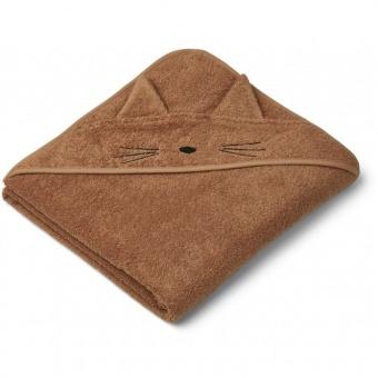 Augusta handduk - katt terracotta