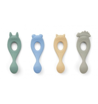 Liva Silicone spoon 4-pack Hunter  Peppermint