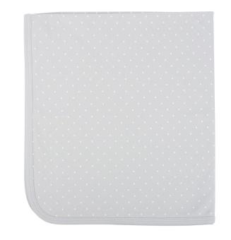 Saturday Blanket Grey/white dots