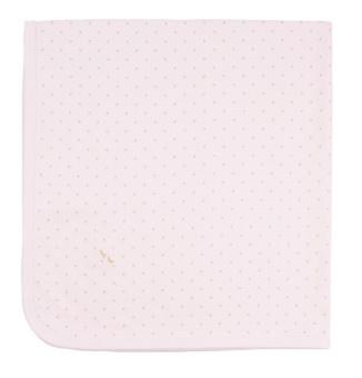 Saturday Blanket pink/gold dot