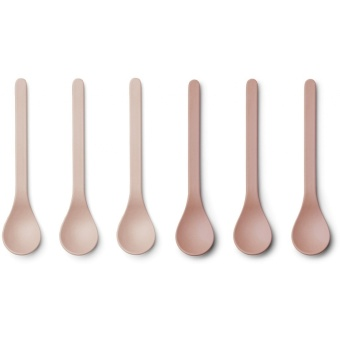 Etsu bamboo spoon - 6 pack/Coral blush mix