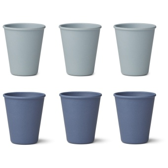 Gertrud bamboo cup - 6 pack/Blue mix