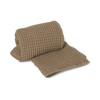 ORGANIC HAND TOWEL -TAN