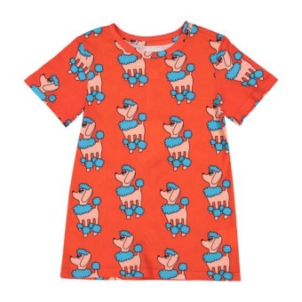 T Shirt - Red Poodle