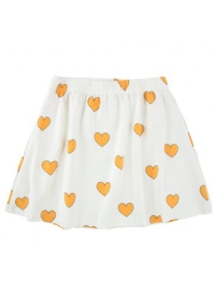 """HEARTS"" SKIRT off-white/yellow"