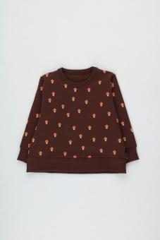 MUSHROOMS SWEATSHIRT ultra brown/red