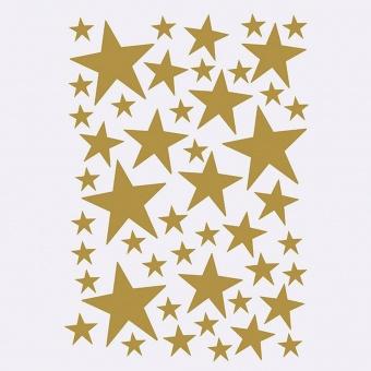 Wallstickers Stjärnor Guld