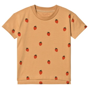 """STRAWBERRIES"" TEE toffee/red"