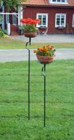 Blom och marschallhållare med platta