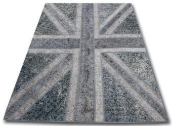 Union Jack grå 170x240