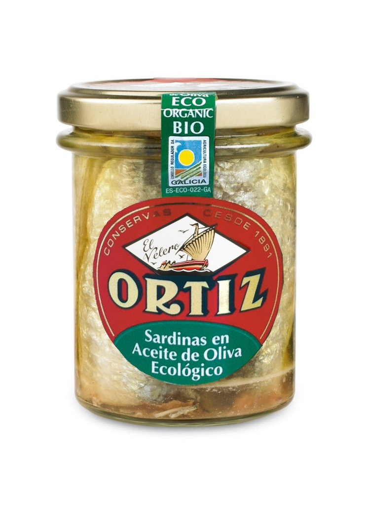Ortiz Sardiner i ekologisk olivolja