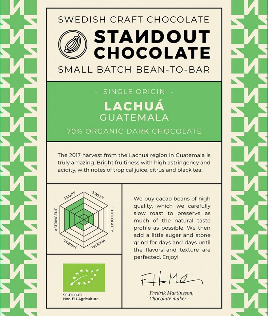 Standout Chocolate - Guatemala Lachuá 70%