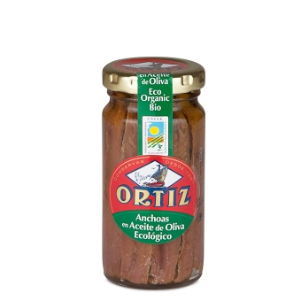 Ortiz Ansjovis i ekologisk olivolja