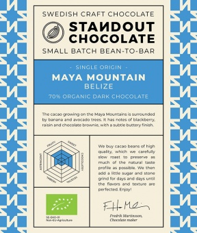 Standout Chocolate - Belize Maya Mountain 70%