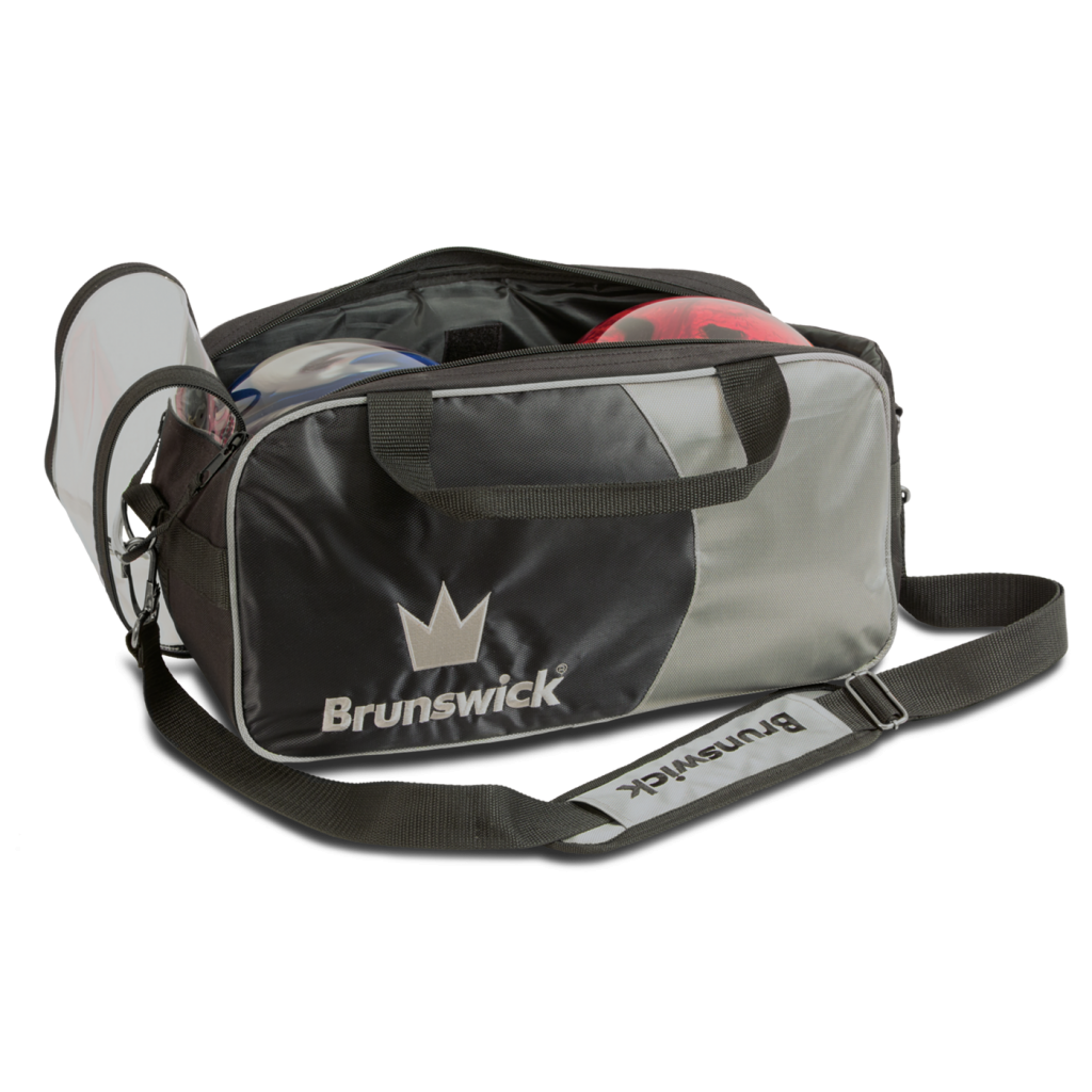 Brunswick Crown Double Tote Black/Silver