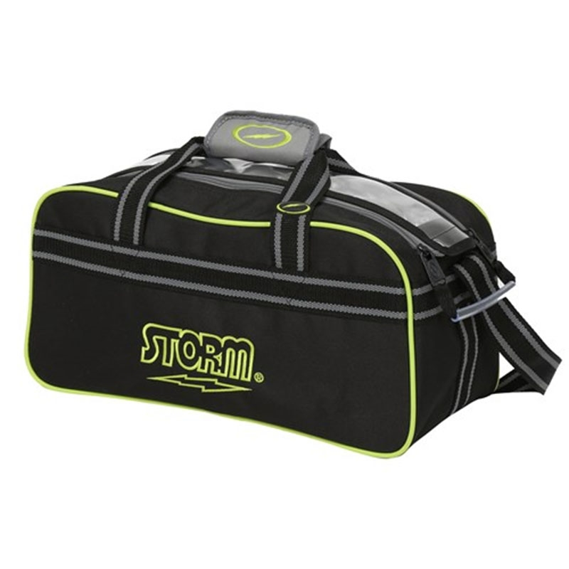 Storm 2-Ball Tote Black/Lime