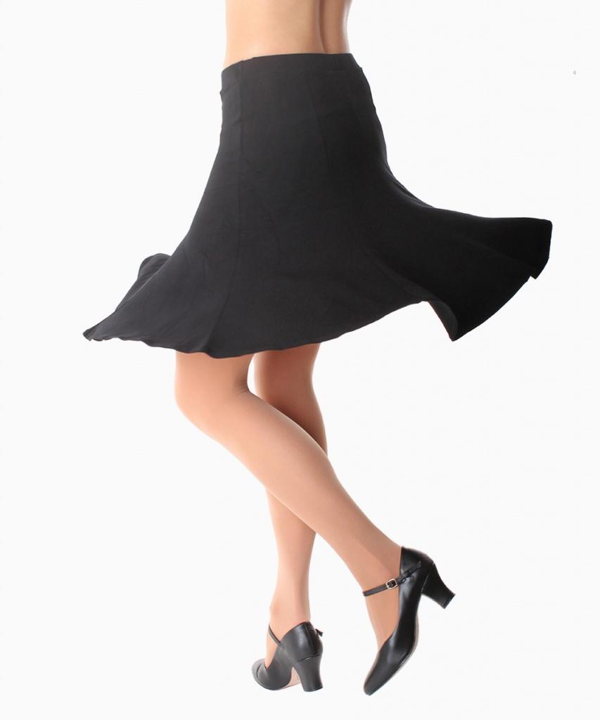 2037CV Utsvängd kjol crepeviskos