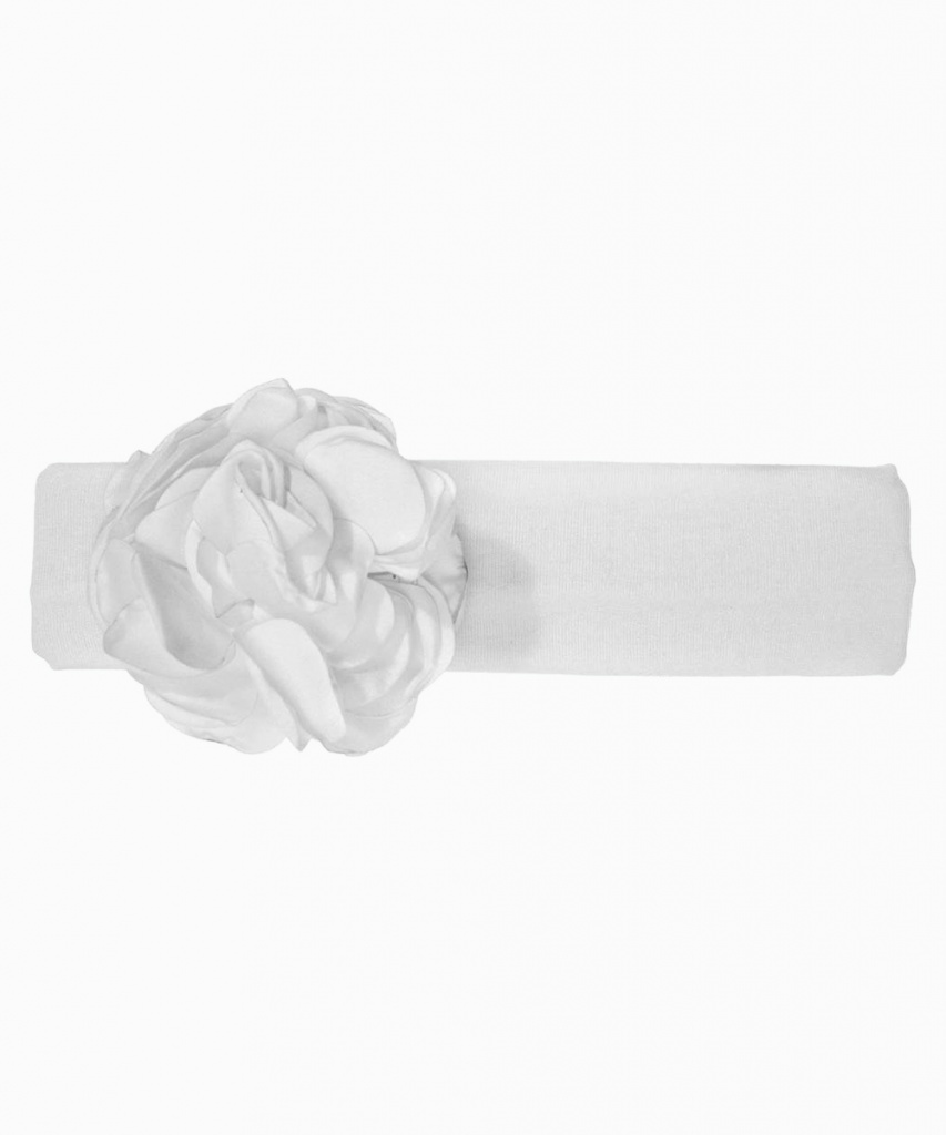 Hårband med blomma vit