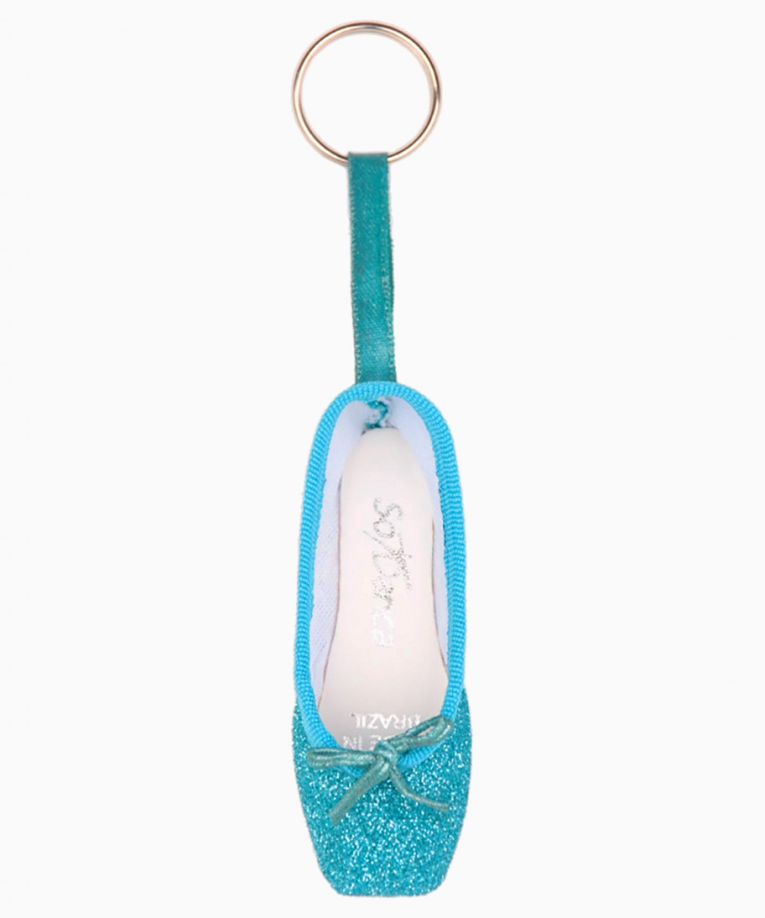 KC01G Nyckelring blå glitter