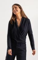 Boomerang Sarali Wrap Sweater Night Sky