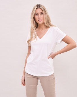 Newhouse V-neck T-shirt White