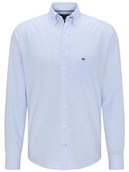 Fynch Hatton All Season Oxford Shirt Light Blue Check