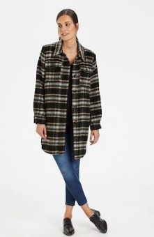 Kaffe Kaloa Jacket Black Check