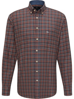 Fynch Hatton Flannel Combi Check Terracotta Check