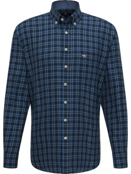 Fynch Hatton Flannel Combi Check Navy Check