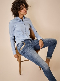 Mosmosh Naomi Wave Jeans Blue Regular
