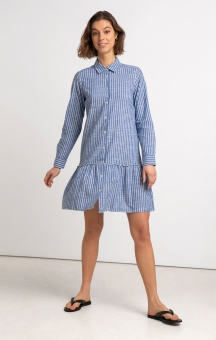 Boomerang Thea Striped Dress Deep Sea