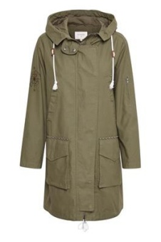 Cream Mirabel Jacket Parka Coat Burnt Olive