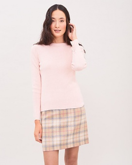 Newhouse Rib Sweater Pink Melange
