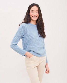 Newhouse Linn Sweater Dusty Blue