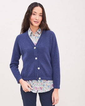 Newhouse Linn Cardigan Soft Navy