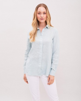 Newhouse Elsa Linen Shirt Dusty Mint