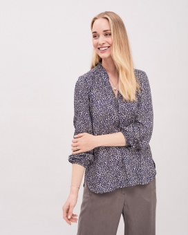 Newhouse The Foliage Blouse Navy