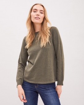 Newhouse Anna Roundneck Sweater Forest