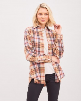 Newhouse Elena Checked Shirt Toffee