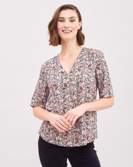 Newhouse Flower Meadow Top Black