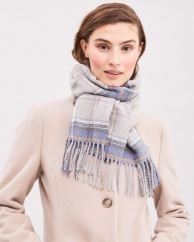 Newhouse Western Isles Scarf Blue Sea