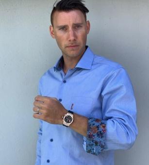 Dahlin oxfordskjorta signum blå