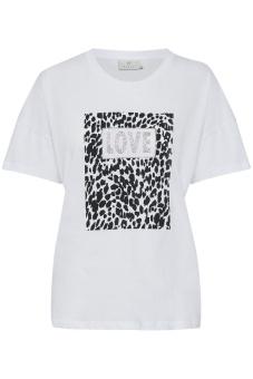 Kaffe Leo T-shirt Optical White