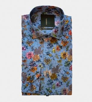 Dahlin Connected pixelblommig skjorta