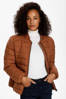Kaffe Miamy Quilted Jacket Russet