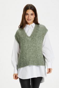 Kaffe Alioma Knit Vest Hedge Green