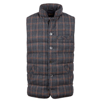 Stenströms Checked Quilted Wool Vest