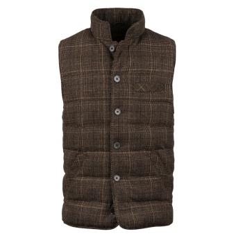 Stenströms Quilted Check Wool Vest