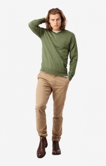 Boomerang Danny V-Neck Sweater Amazon Green