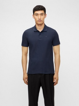 J.Lindeberg Troy ST Pique Polo Shirt Navy